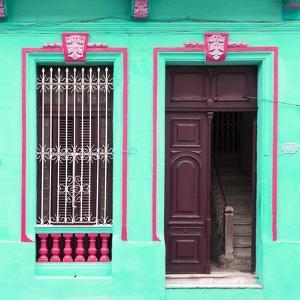 Cuba Fuerte Collection SQ - Havana Turquoise Façade by Philippe Hugonnard