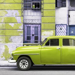 Cuba Fuerte Collection SQ - Lime Green Classic American Car by Philippe Hugonnard