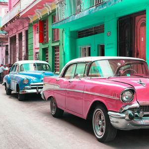 Cuba Fuerte Collection SQ - Old Cars Chevrolet Pink and Blue by Philippe Hugonnard