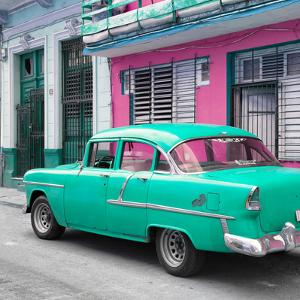 Cuba Fuerte Collection SQ - Old Cuban Coral Green Car by Philippe Hugonnard