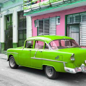 Cuba Fuerte Collection SQ - Old Cuban Green Car by Philippe Hugonnard