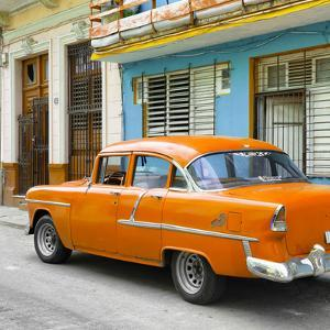 Cuba Fuerte Collection SQ - Old Cuban Orange Car by Philippe Hugonnard