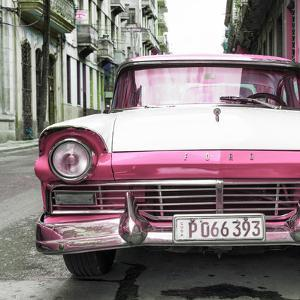 Cuba Fuerte Collection SQ - Old Ford Pink Car by Philippe Hugonnard