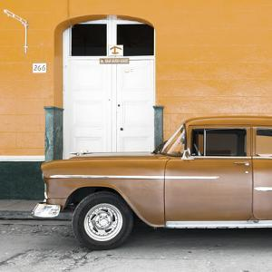 Cuba Fuerte Collection SQ - Old Orange Car by Philippe Hugonnard