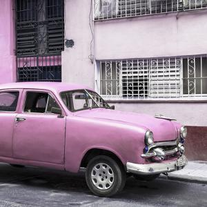 Cuba Fuerte Collection SQ - Old Pink Car in the Streets of Havana by Philippe Hugonnard