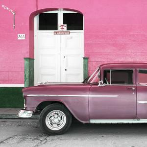Cuba Fuerte Collection SQ - Old Pink Car by Philippe Hugonnard