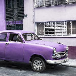 Cuba Fuerte Collection SQ - Old Purple Car in the Streets of Havana by Philippe Hugonnard
