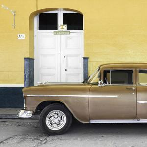Cuba Fuerte Collection SQ - Old Yellow Car by Philippe Hugonnard