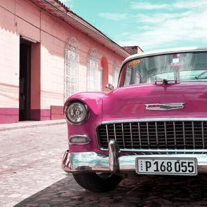 Cuba Fuerte Collection SQ - Pink Classic Car 1955 Chevy by Philippe Hugonnard