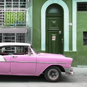 Cuba Fuerte Collection SQ - Pink Classic Car in Havana by Philippe Hugonnard