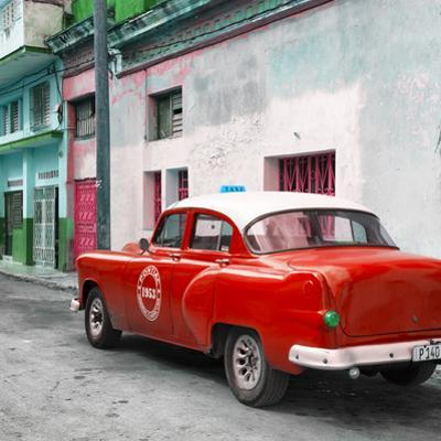 Cuba Fuerte Collection SQ - Red Taxi Pontiac 1953 by Philippe Hugonnard