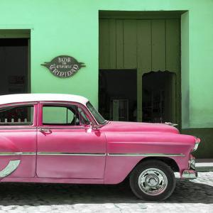 Cuba Fuerte Collection SQ - Retro Pink Car by Philippe Hugonnard