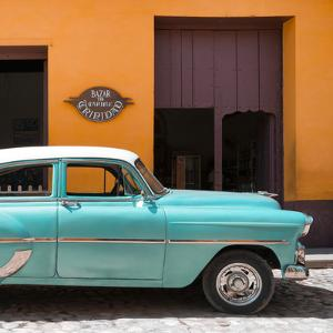 Cuba Fuerte Collection SQ - Retro Turquoise Car by Philippe Hugonnard
