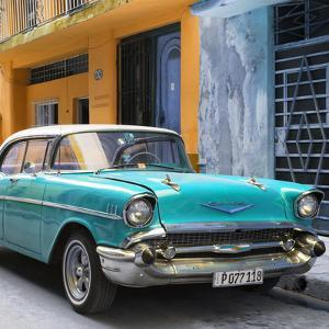 Cuba Fuerte Collection SQ - Turquoise Chevrolet Cuban by Philippe Hugonnard
