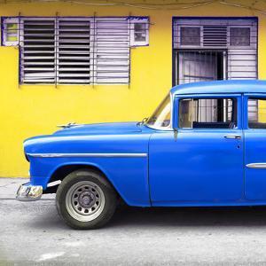 Cuba Fuerte Collection SQ - Vintage Cuban Blue Car by Philippe Hugonnard