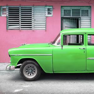 Cuba Fuerte Collection SQ - Vintage Cuban Green Car by Philippe Hugonnard