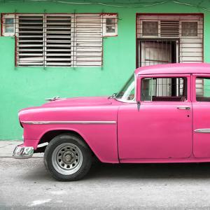 Cuba Fuerte Collection SQ - Vintage Cuban Pink Car by Philippe Hugonnard