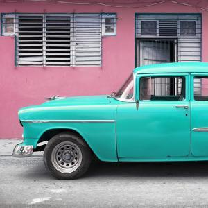 Cuba Fuerte Collection SQ - Vintage Cuban Turquoise Car by Philippe Hugonnard