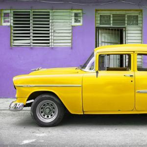 Cuba Fuerte Collection SQ - Vintage Cuban Yellow Car by Philippe Hugonnard