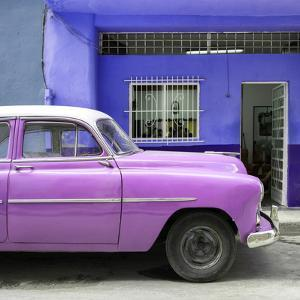 Cuba Fuerte Collection SQ - Vintage Hot Pink Car of Havana by Philippe Hugonnard