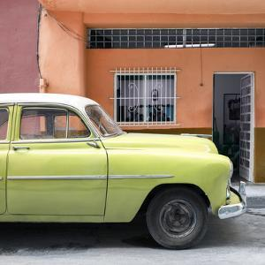 Cuba Fuerte Collection SQ - Vintage Lime Green Car of Havana by Philippe Hugonnard