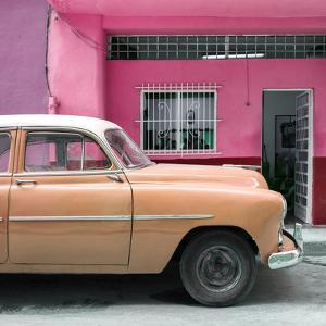Cuba Fuerte Collection SQ - Vintage Orange Car of Havana by Philippe Hugonnard