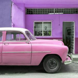 Cuba Fuerte Collection SQ - Vintage Pink Car of Havana by Philippe Hugonnard