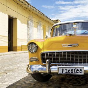 Cuba Fuerte Collection SQ - Yellow Classic Car 1955 Chevy by Philippe Hugonnard