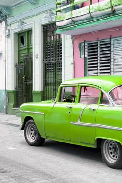 Cuba Fuerte Collection - Vintage Cuban Green Car by Philippe Hugonnard
