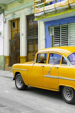 Cuba Fuerte Collection - Vintage Cuban Yellow Car by Philippe Hugonnard