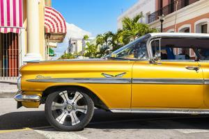 Cuba Fuerte Collection - Vintage Yellow Car II by Philippe Hugonnard