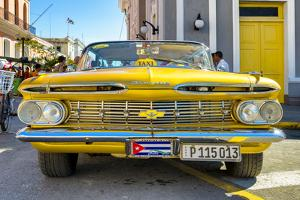 Cuba Fuerte Collection - Yellow Cuban Taxi by Philippe Hugonnard