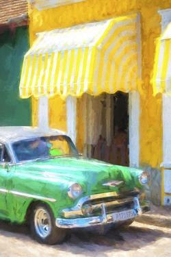 Cuba Painting - 50s Chevy by Philippe Hugonnard