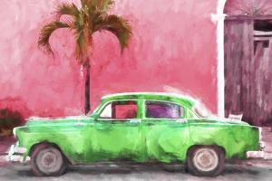 Cuba Painting - Kelly Green Chevrolet by Philippe Hugonnard