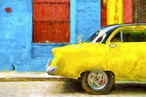 Cuba Painting - Taxi Back by Philippe Hugonnard