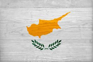 Cyprus Flag Design with Wood Patterning - Flags of the World Series by Philippe Hugonnard