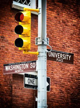Directional Signs and Traffic Lights, Greenwich Village, Historic District, Manhattan, New York by Philippe Hugonnard
