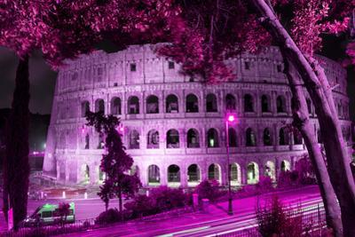 Dolce Vita Rome Collection - Colosseum at Pink Night by Philippe Hugonnard