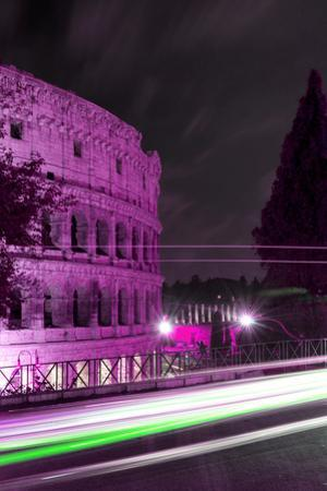 Dolce Vita Rome Collection - Colosseum Pink Night II by Philippe Hugonnard