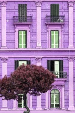 Dolce Vita Rome Collection - Mauve Building Facade II by Philippe Hugonnard