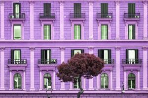 Dolce Vita Rome Collection - Mauve Building Facade by Philippe Hugonnard