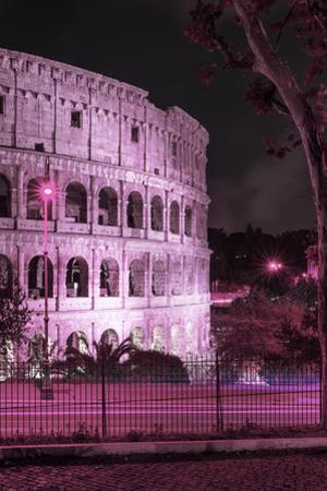 Dolce Vita Rome Collection - The Colosseum Pink Night II by Philippe Hugonnard
