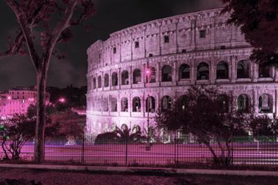 Dolce Vita Rome Collection - The Colosseum Pink Night by Philippe Hugonnard