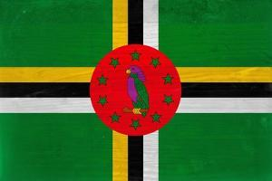 Dominica Flag Design with Wood Patterning - Flags of the World Series by Philippe Hugonnard