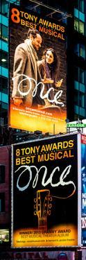 Door Posters - Billboards Best Musicals on Broadway and Times Square at Night - Manhattan by Philippe Hugonnard