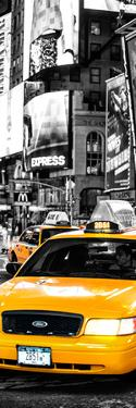 Door Posters - NYC Yellow Taxis / Cabs in Times Square by Night - Manhattan - New York by Philippe Hugonnard