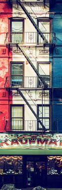 Door Posters - Old Red and White Facade in Times Square - Manhattan - New York - USA by Philippe Hugonnard