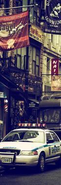 Door Posters - Urban Street Scene with NYC Sheriff Car in Fulton Street - Manhattan by Philippe Hugonnard