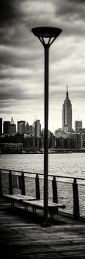 Door Posters - View of Manhattan with the Empire State Building a Jetty in Brooklyn by Philippe Hugonnard