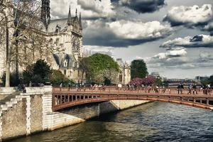 Double Pont Bridge - Notre Dame Cathedral - Paris - France by Philippe Hugonnard